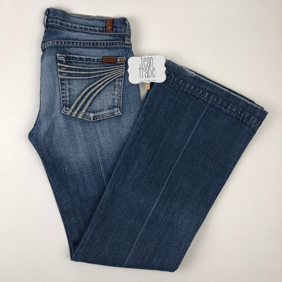 7 for all Mankind Denim - 7 for all mankind dojo flare jeans 27x31